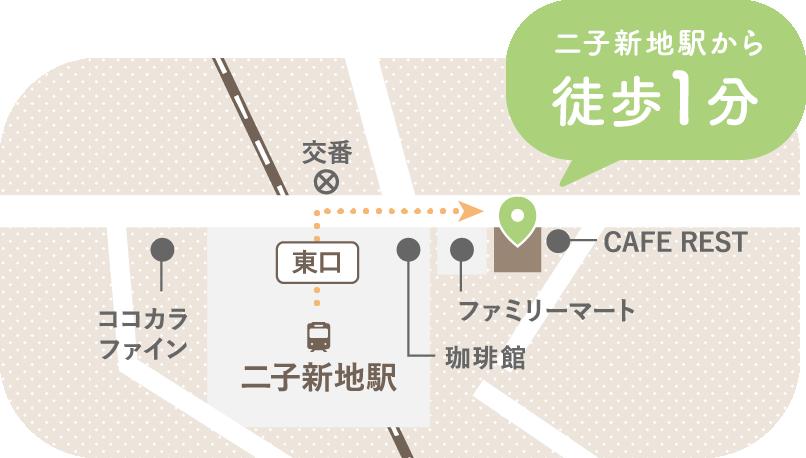 二子新地駅から徒歩1分